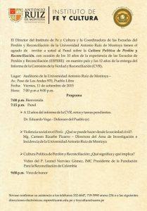 Se celebrará Panel en conmemoración del Informe Final de la CVR