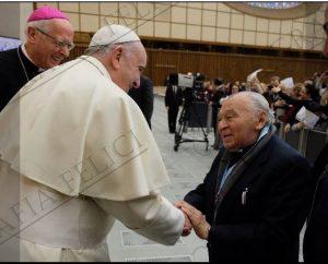 El Papa Francisco y Gustavo Gutiérrez tuvieron breve encuentro en la Nunciatura Apostólica