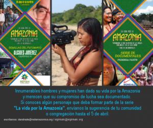 "Invitan a postular personajes para serie ""La vida por la Amazonía"""