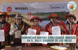 Denuncian dos nuevas concesiones mineras en el Valle Sagrado de los Incas
