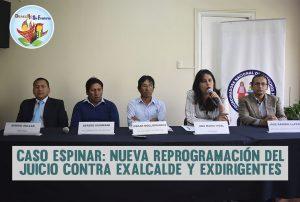Caso Espinar: Nueva reprogramación del juicio contra exalcalde y exdirigentes