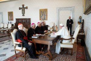 CELAM se reunió con el papa Francisco y presentó avances en su reestructuración