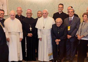 Presidente CELAM saluda a Francisco durante «Congreso Internacional por los 40 años de Puebla»