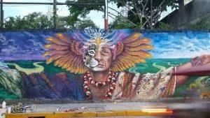 Denuncian borrado de mural sobre la cosmovisión shipiba para pintar propaganda política