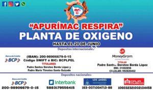Diócesis de Apurímac presenta campaña para adquirir planta de oxígeno
