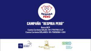 """Lanzan campaña """"Respira Perú"""" para asegurar oxígeno a los enfermos de COVID-19"""