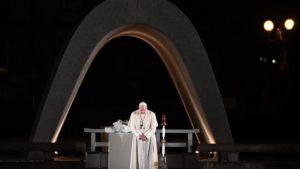 """El Papa en el 75° aniversario de la explosión de Hiroshima: """"Para que la paz florezca, hay que deponer las armas"""""""