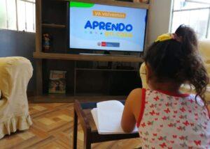 """Más de 373 mil escolares no pudieron acceder a programa """"Aprendo en casa"""" en el 2020"""