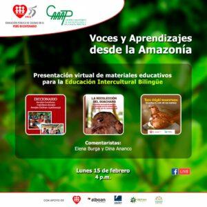 Presentan materiales educativos para conectarnos y comprometernos con pueblos amazónicos