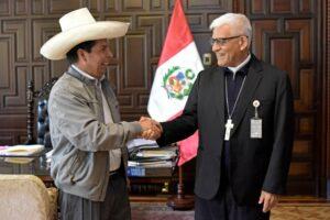 Presidente Castillo se reunió con monseñor Cabrejos, líder de la Iglesia Católica en Perú